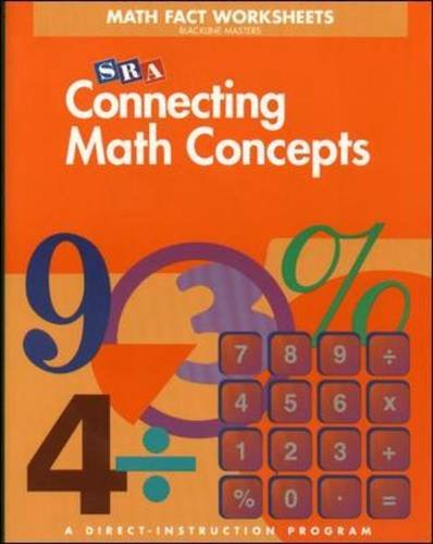 Connecting Math Concepts Math Fact Worksheets, Level B (Blackline ...