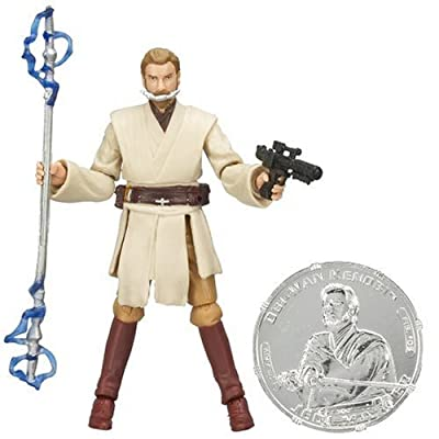"STAR WARS 3.75"" BSC FIG Obi-Wan Kenobi with General Grievous Blaster: Toys & Games"