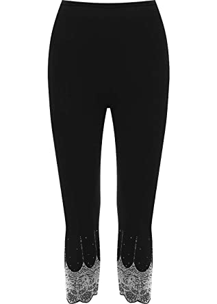a0e66d0db6ddb WearAll Women's Gold and Silver Stretch Sequin Leggings Ladies - Black  Silver - US 8-