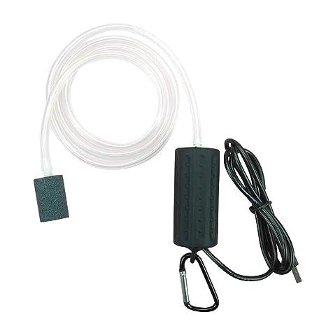 POPETPOP Bomba de Aire del Acuario USB Powered Silencioso Alta eficiente Bomba de aireador de Aire