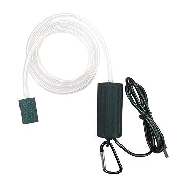 POPETPOP Bomba de Aire del Acuario USB Powered Silencioso Alta ...