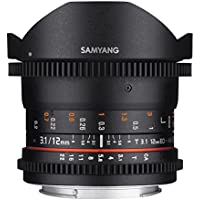 Samyang VDSLR II 12mm T3.1 Ultra Wide Cine Fisheye Lens for Nikon DSLR Cameras - Full Frame Compatible