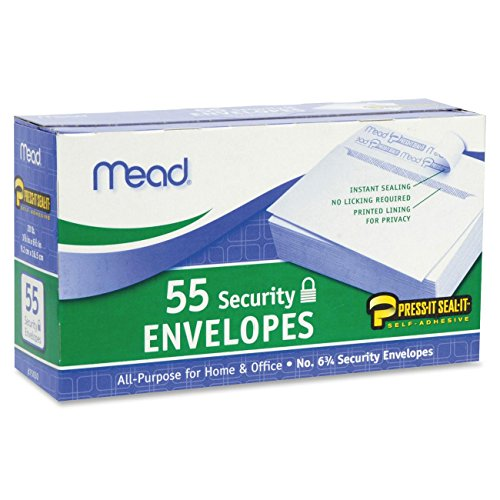 Mead Security Envelopes Peel White