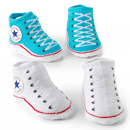 Converse 2 Pack Infant Booties 0-6 Months Blue/White -
