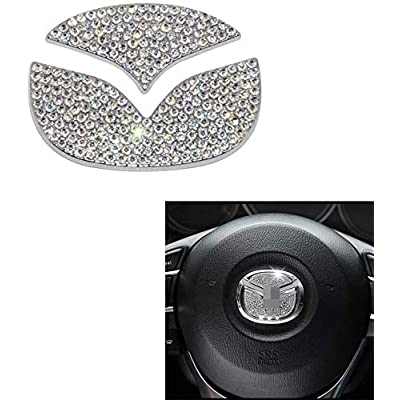 MAXMILO Steering Wheel Bling Crystal Shiny Diamond Accessory Interior Sticker for Mazda cx-4 cx5: Automotive