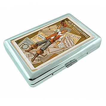 Amazon.com: Metal plateado Caso de cigarrillos clásico ...