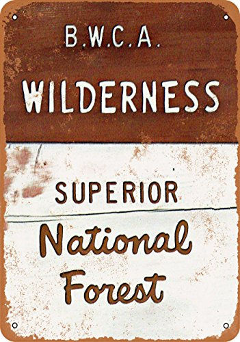 Wall-Color 9 x 12 METAL SIGN - BWCA Wilderness Superior National Forest - Vintage Look Reproduction