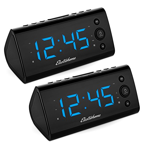 Magnasonic Electrohome Alarm Clock Radio with USB Charging f