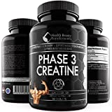 * ANABOLIC CREATINE MONOHYDRATE BLACK EDITION *Best Lab Tested Creatine Pills - Phase 3 Creatine - Monohydrate Powder - HCI & Pyruvate - Extreme Bodybuilding Pills Capsules - By Muscle Phase
