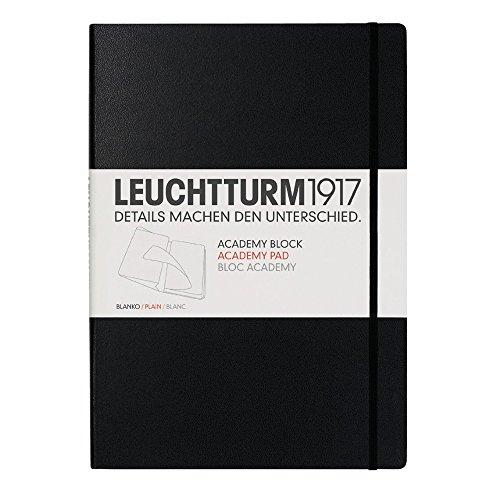 Leuchtturm1917 Medium A5 Academy Pad Notebock Plain Black