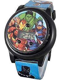 Avengers Kid's Digital Spinner Light Up Watch AVG4540