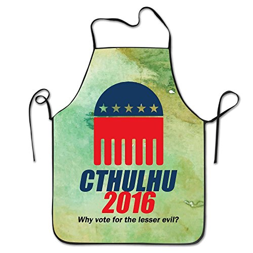 CTHULHU 2016 Why Vote For The Lesser Evil BBQ Kitchen Cooking Apron