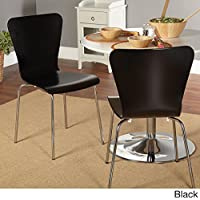 Simple Living Pisa Bentwood Stackable Dining Kitchen Chairs (Set of 2) (black)