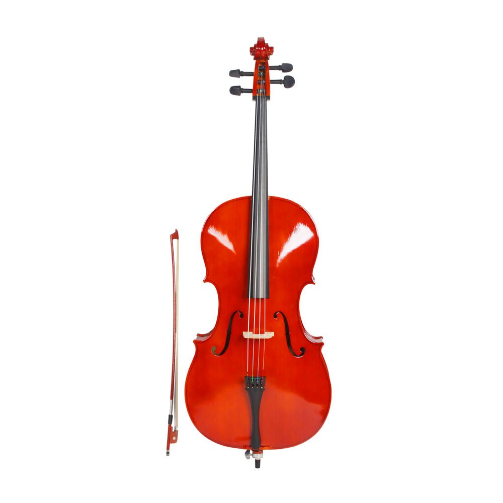 Acoustic Cello with Soft Case, Bow, Rosin for Beginner Cello kit (1/2 Size) MU-Dreammall-1100207