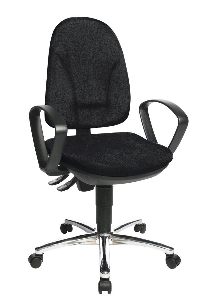 Bürodrehstuhl Steel Point 30 schwarz inkl. Armlehnen