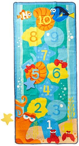 - Gertmenian Dory Hopscotch Game Kids Play Rug, Aqua Blue