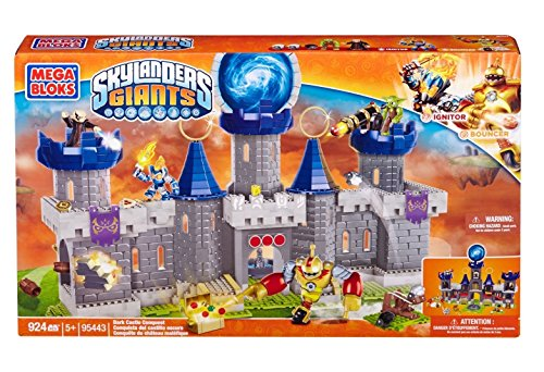 Mega Bloks Skylanders Giants Dark Castle Conquest (924-Pieces) w/ Ignitor and Bouncer - Build The Adventure! Working Catapult & Castle Ring Vortex