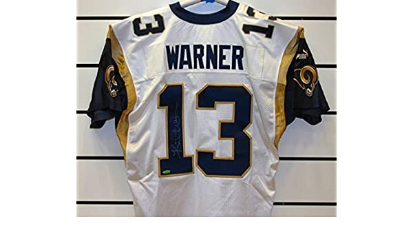 newest collection b4ca4 8543d Kurt Warner Autographed St Louis Rams Jersey. at Amazon's ...