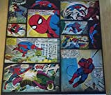 12x12 Scrapbook Paper Spiderman Comics - 4 Sheets
