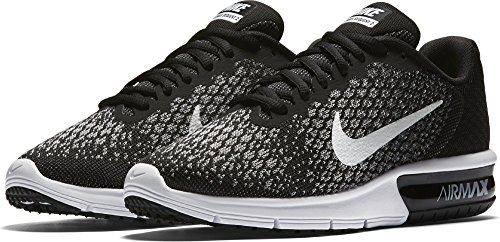 Air Max Sequent Ladies Running Shoes - Black/White