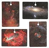 Set of Four Galaxy Print Air Fresheners, Cedarwood Essential Oil