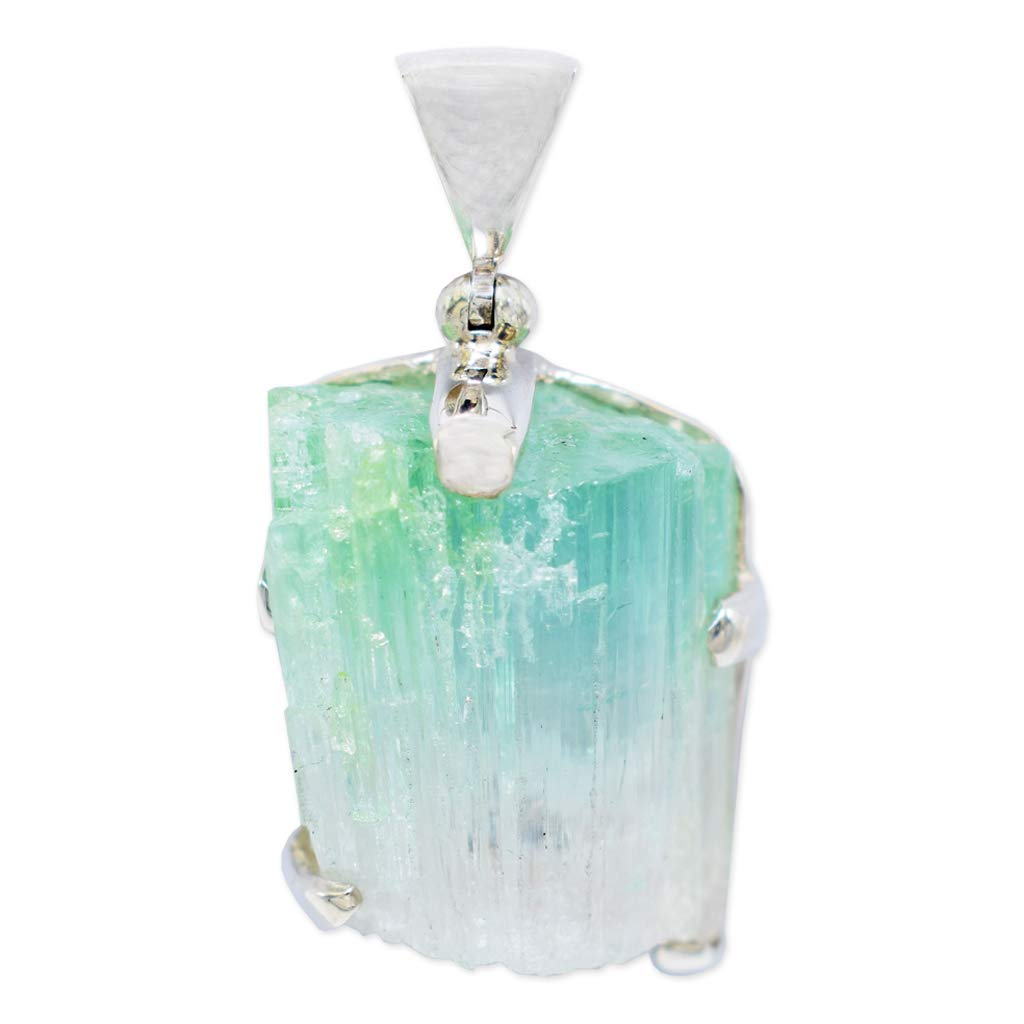 Green Tourmaline Pendant Necklace by Stones Desire