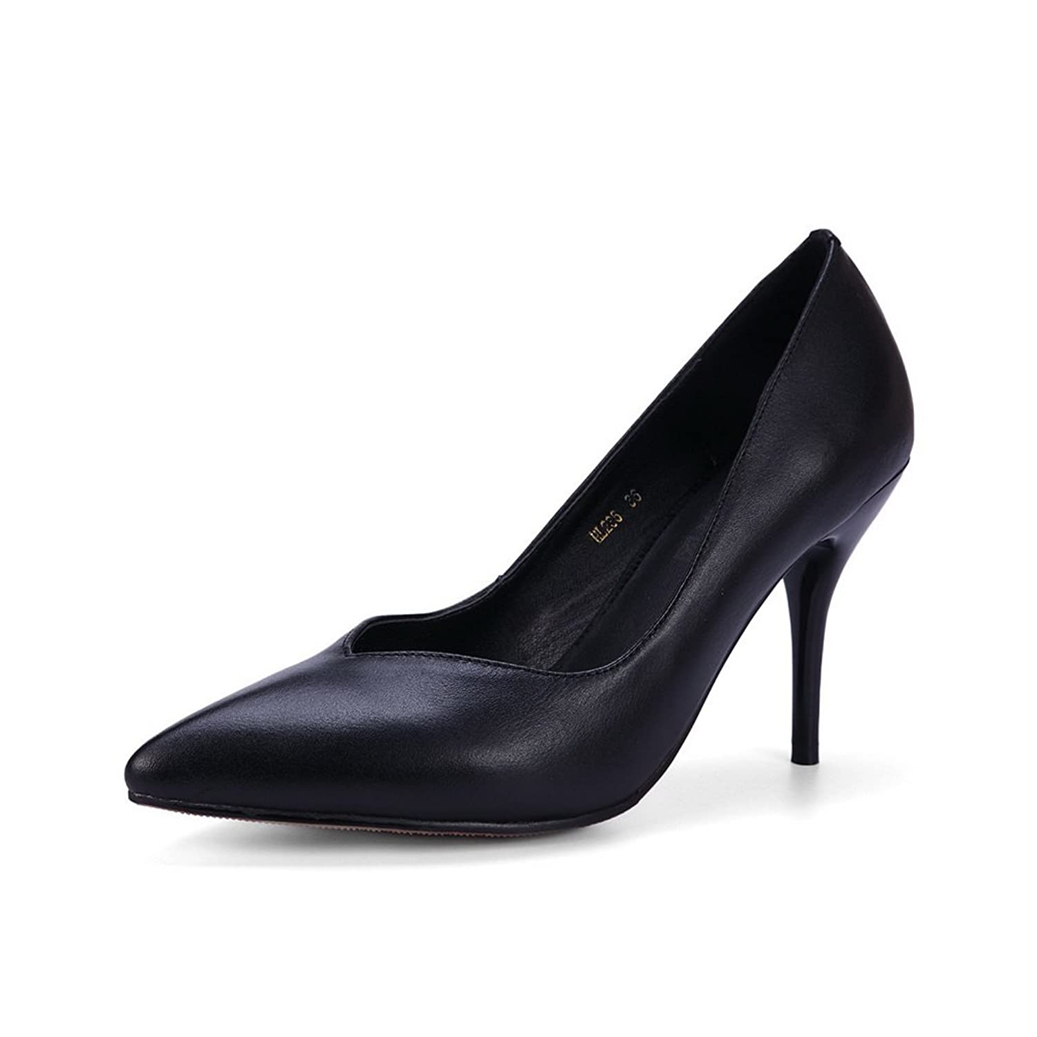 497d5f68fce AdeeSu Womens Pointed-Toe Light-Weight Slip-Resistant Pleather Loafers Shoes  SDC03873