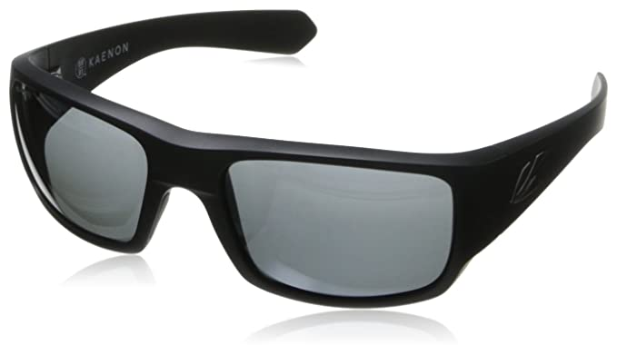 Kaenon Mens Pintail Polarized Rectangular Sunglasses Black Label