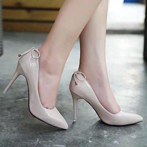 Pajarita de con Boda Mayor GAOLIM Claro Zapatos Cm 8 Zapatos De Sugerencia Alto Solo Zapatos De con Desnudas Zapatos Hembra Talón Princesa Finos Crudo Color Color Alto qttBHn1w