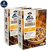 Quaker Simply Granola Oats, Honey & Almonds, Breakfast Cereal, 28 oz Boxes, (2 Pack)