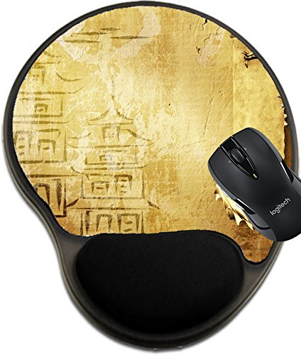 Free Scroll Background (MSD Natural Rubber Mousepad wrist protected Mouse Pads/Mat with wrist support design: 7661769 Grunge background with dragons and scrolls of old parchment)