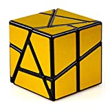 JIAAE 2X2 Allotype Rubik's Cube High Difficulty Intelligence Rubik Children Puzzle Toy,Gold