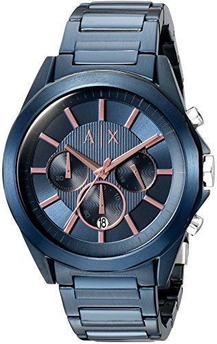 Gents Designer Watches (Armani Exchange Men's AX2607 Blue IP Watch)