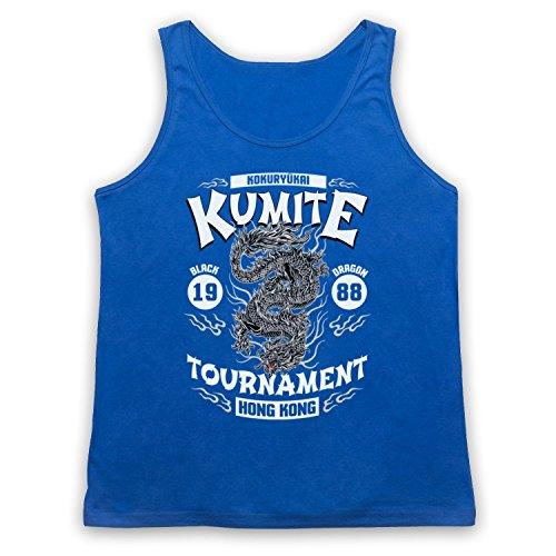 Bloodsport Kumite 1988 Black Dragon Tournament Camiseta de Tirantes Azul Real