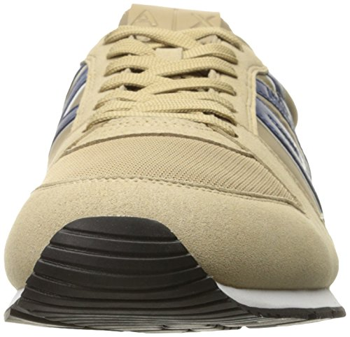 A Armani Khaki Exchange Running Sneaker Retro Fashion X Sneaker Men rZ5wOqr