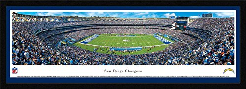 San Diego Chargers - 50 Yard - Blakeway Panoramas NFL Posters with Select Frame
