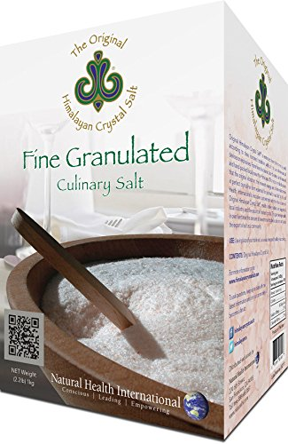 Original Himalayan Salt Crystal - Fine Granulated Culinary Salt for Cooking, Food Preparation and Health with 84 Trace Minerals - 2.2lb (1kg)
