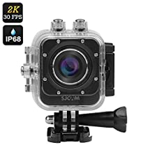 SJCAM M10 Plus Sports Action Camera - 2K 30 FPS, 12MP, 1.5 Inch LCD Screen, 170 Degree Lens, Waterproof Case (Black)
