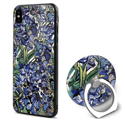 - Van Gogh's Purple Iris TPU Case Ring Bracket Compatible iPhone X Cover 5.8 Inch