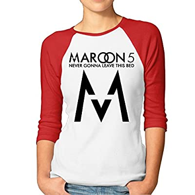 ABSOP Women's Maroon 5 Logo 3/4 Sleeve Baseball Tee Shirts