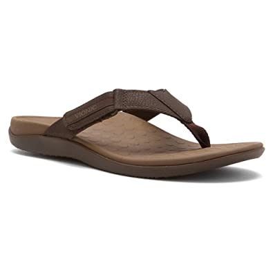 8c0b6da5d4e Vionic Orthaheel Mens Ryder Thong Sandals 9 M Brown-tan UK Size   8