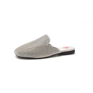 e1efad4e6849 Women s Comfortable Slip-On Mule with Bow Design(Beige-36 5.5 B