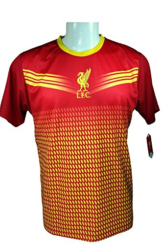 Liverpool F.C. Soccer Official Adult Soccer Training Performance Poly Jersey Rhinox-J005 - Authentic Jersey Liverpool