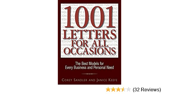 1001 letters for all occasions ebook by corey sandler, janice.