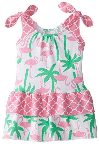 Flap Happy Baby Girls' Lola Dress, Flamingo Fun, 24 Months (Flap Happy Clothes)