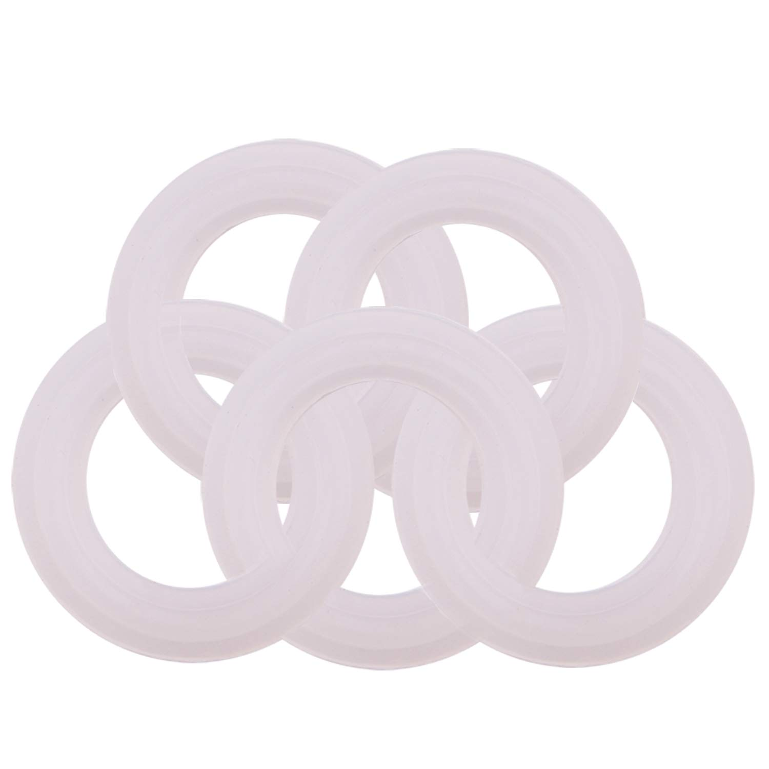 DERNORD Silicone Sanitary Gasket 3//4 Tri-Clamp O Rings 0.62 Inch ID 0.86 Inch OD Pack of 10