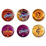 WinCraft Cleveland Cavaliers Official NBA Metal Button Badge Pin Set 6 Pack by 323651