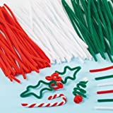 Christmas Pipe Cleaner Value Pack for Children for Crafting by Baker Ross