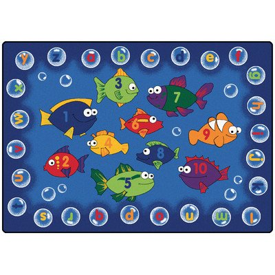 "Literacy Fishing Kids Rug Rug Size: Oval 7'8"" x 10'10"""