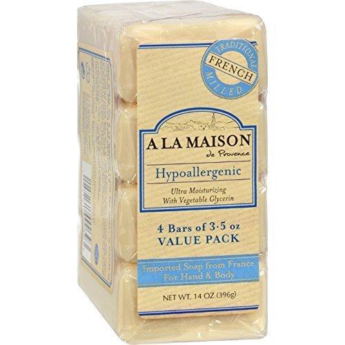 A La Maison Hypoallergenic Unscented Bar Soap, 3.5 Ounce - 4